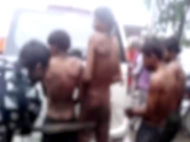 The horrifying incident of the four Dalit youths getting beaten up in front of a crowd was recorded and the video went viral on social media. Photo: IANS video