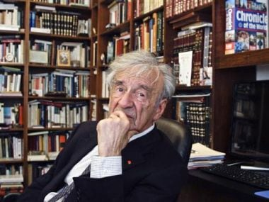 Elie Wiesel photographed in his office in New York in 2012. AP
