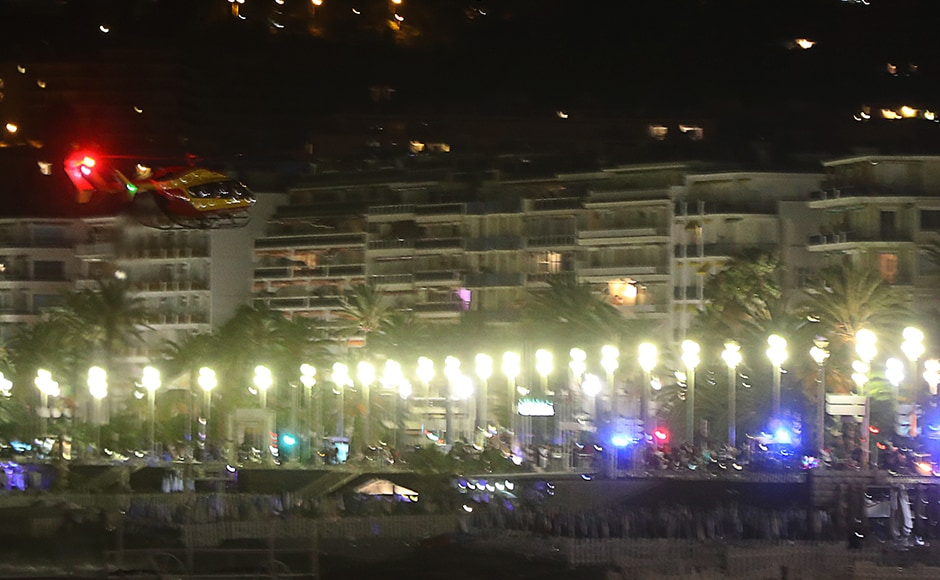 "Up to 80 people are feared dead after a van drove into a crowd watching Bastille Day fireworks in the French resort of Nice on 14 July, an official announced. The attack has been described as a ""major criminal attack"". AFP"