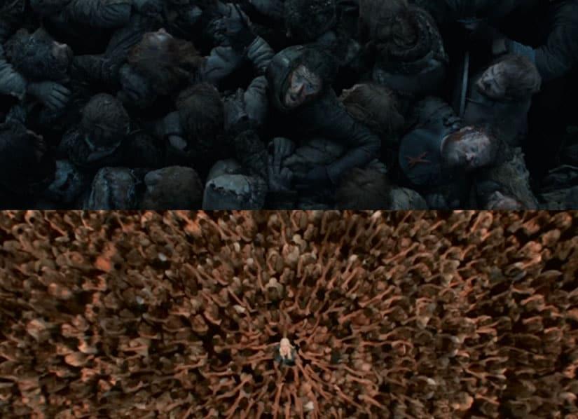 jon snow daenerys collage