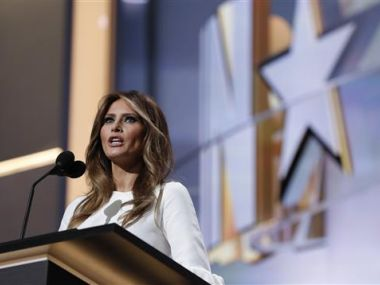 File image of US First Lady Melania Trump. AP