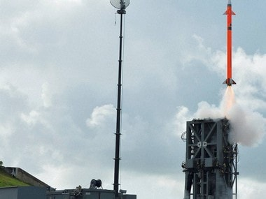 A Medium Range Surface-to-Air Missile (MRSAM) being successfully test-fired from the Integrated Test Range off Odisha coast  on Thursday. PTI