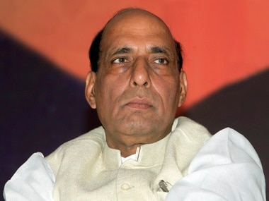Rajnath Singh met civilians in Kashmir, but not traders. File image. Reuters