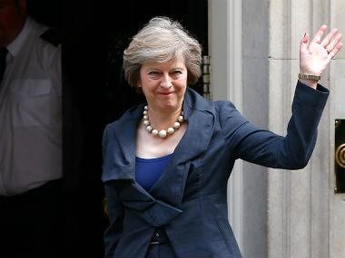 UK PM Theresa May. Reuters