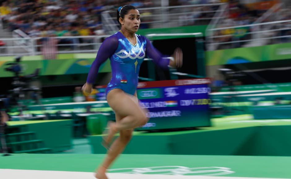 India's Dipa Karmakar missed out on a historic medal in the women's vault by a whisker. AFP