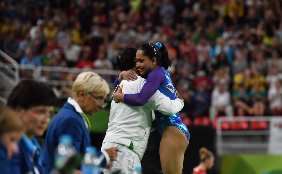 Dipa Karmakar was at the second spot at that stage. But she was pushed to the third spot, after Maria Paseka's attempt which saw the Russian score 15.266 and 15.241 with her first and second attempts respectively. AFP