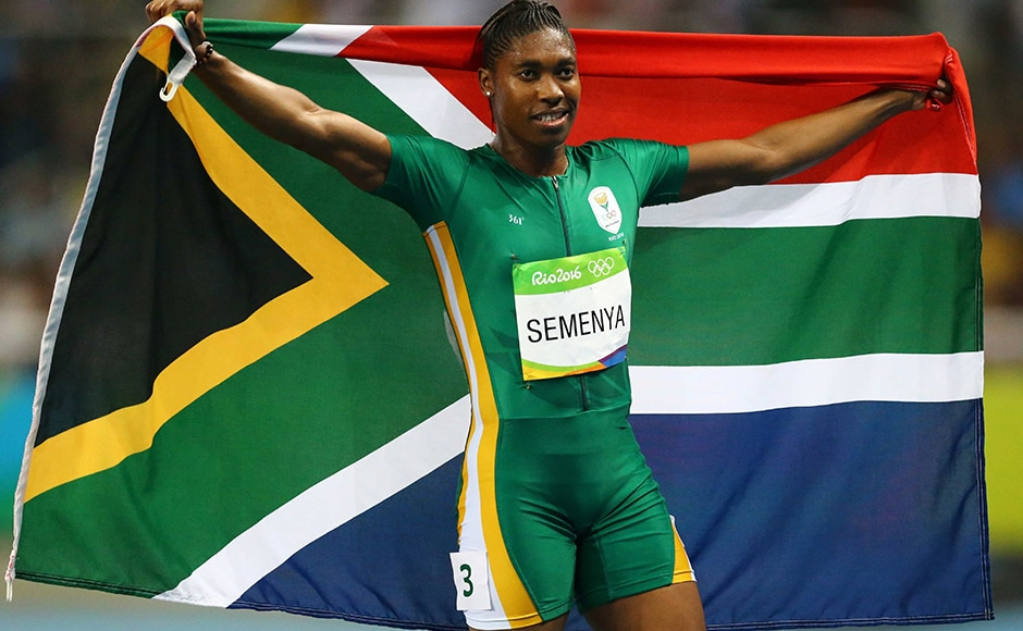 Caster Semenya of South Africa won her first Olympic gold in Women's 800m Final with a personal best of 1 minute, 55.28 seconds, a national record and one of the top 20 times ever in the two-lap race. Reuters