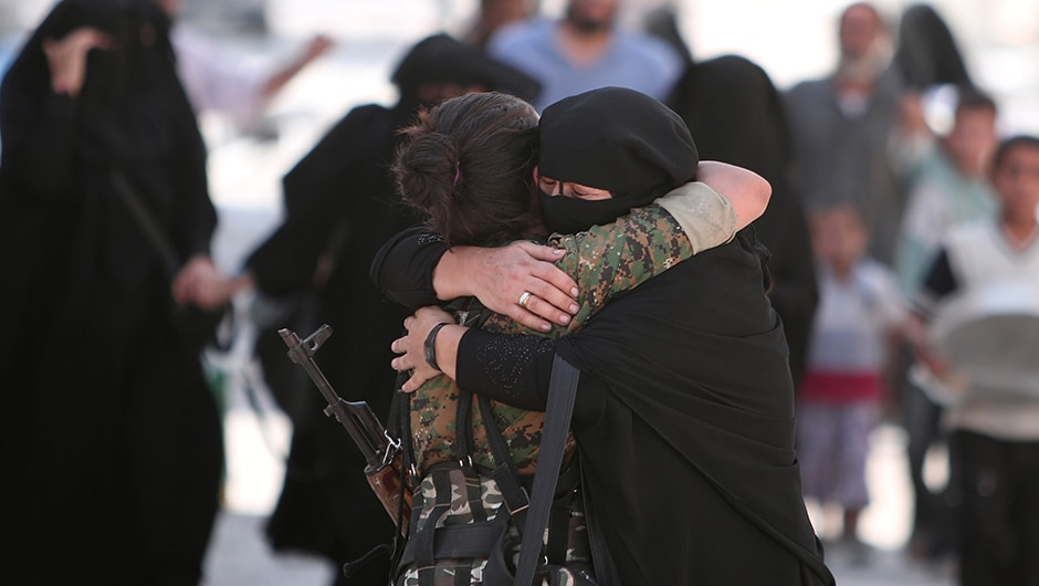 "Islamic State released hundreds of civilians on Saturday that they had used as human shields while fleeing  the crumbling stronghold of Manbij in northern <span class=""highlight"">Syria</span>, but the fate of others remained unknown. Reuters"