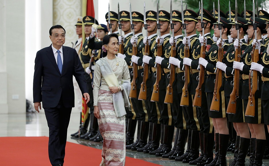 Aung San Suu Kyi began her first official visit to China as the State Counsellor, where she is slated discuss several issues with Chinese leaders, including stalled projects. Reuters