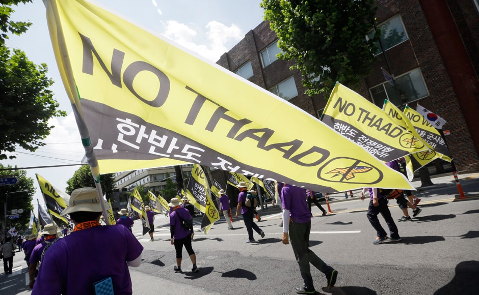 South Korea and the United States have said THAAD will only be used in defence against North Korean ballistic missiles, but China has warned it would destabilise the regional security balance. AP