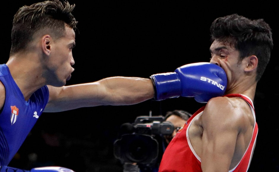 India's boxer Shiva Thapa (56kg) bowed out of the Olympic Games after being out-punched by London Olympics flyweight gold-medallist Cuban Robeisy Ramirez in the opening round. PTI