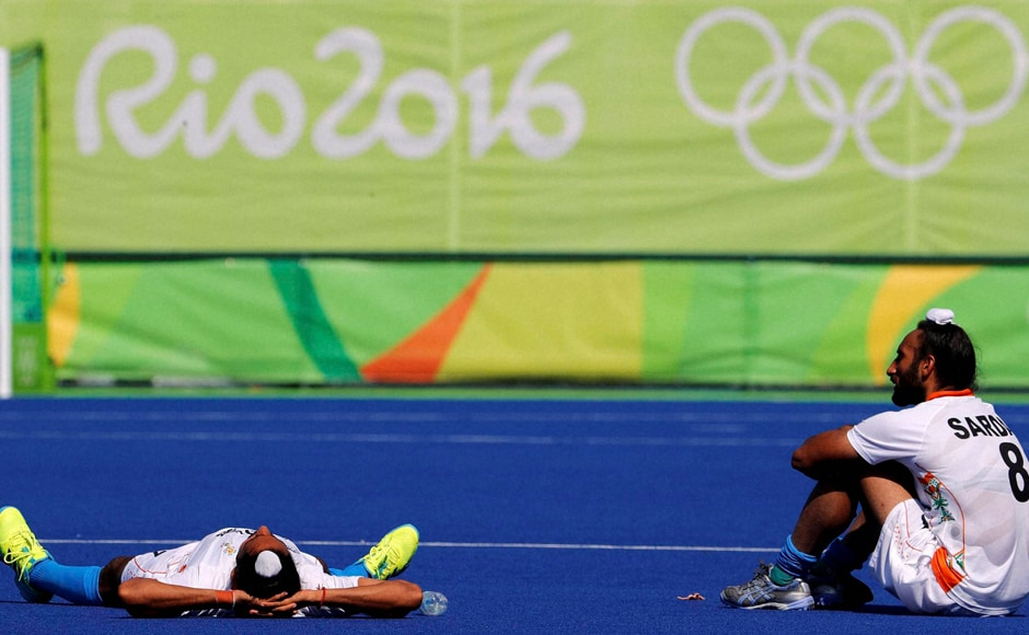 India squandered a one goal advantage to go down 1-3 to Belgium in the quarterfinals and crashed out of the men's hockey competition of the Rio Olympics. PTI
