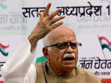 BJP leader LK Advani. PTI