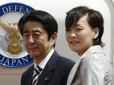 Japanese Prime Minister Shinzo Abe (L) and his wife Akie Abe in a file image. Reuters
