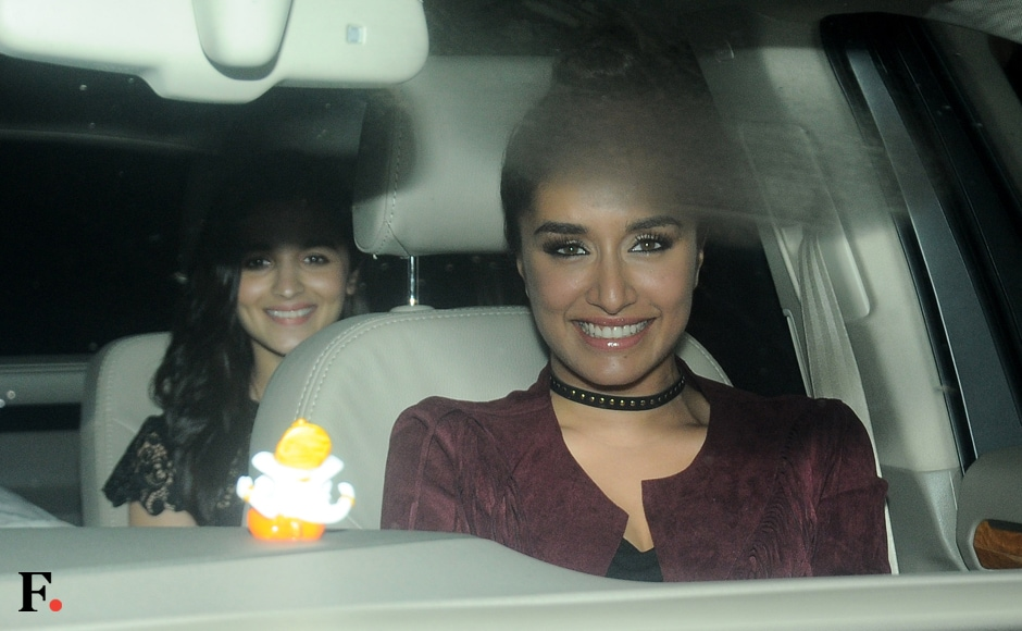 Shraddha Kapoor and Alia Bhatt attend the party. Sachin Gokhale/Firstpost