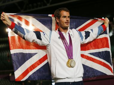 London 2012 gold medallist Andy Murray. Reuters