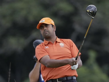 Anirban Lahiri in action on Day 6 of the Rio Olympics. AP