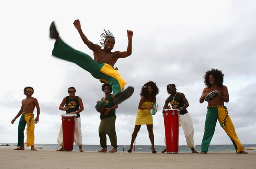 Capoeira is the famous martial arts-cum-dance form practiced here. Photo courtesy Brazil Expat