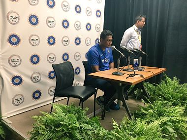 Indian coach Anil Kumble addressing media ahead of the T20I series. Image courtesy: BCCI Twitter