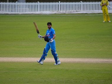 Manish Pandey scored 110 for India A against Australia A. Image courtesy: @CricketAus