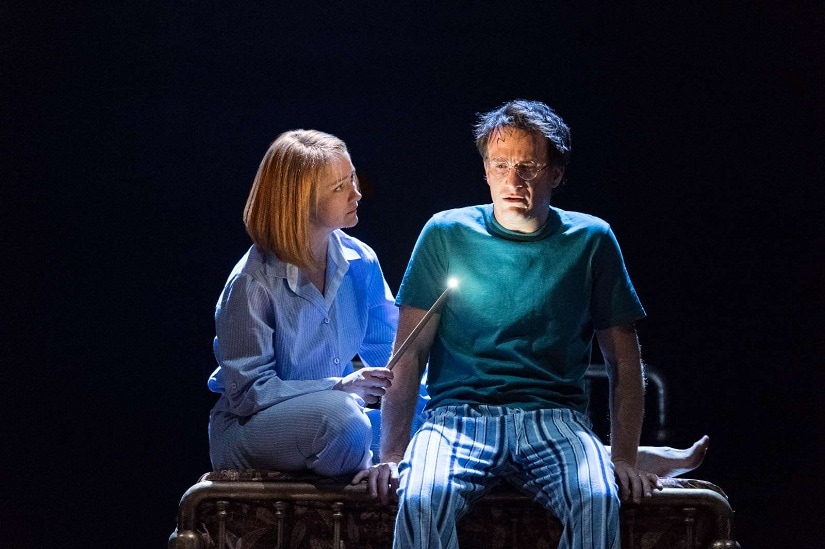 Poppy Miller as Ginny and Jamie Parker as Harry Potter. Photo courtesy Manuel Harlan