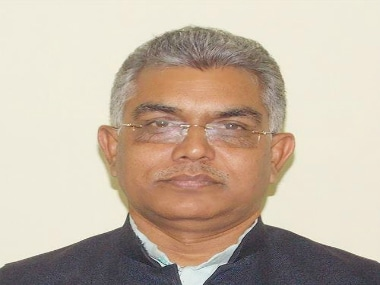 File image of Bengal BJP party president Dilip Ghosh. Image Courtesy: Twitter