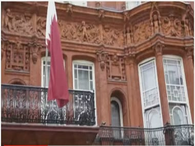 Representational image of Qatari Embassy in London. YouTube grab.