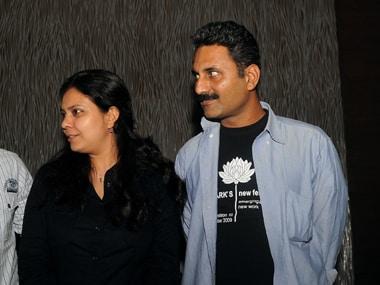 Mahmood Farooqui with wife Anusha Rizvi. Image from AFP