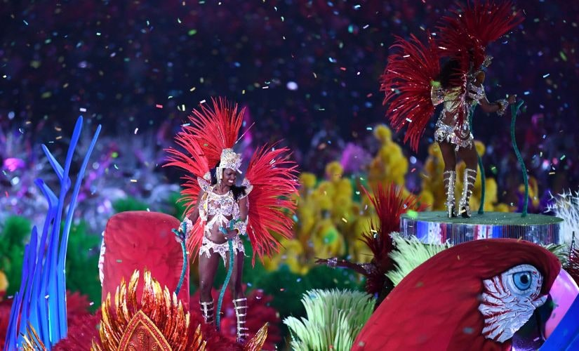 Carnival dancers perform during the Closing Ceremony. Getty