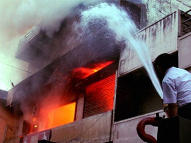 A major fire broke out in Gurgaon on Tuesday. PTi