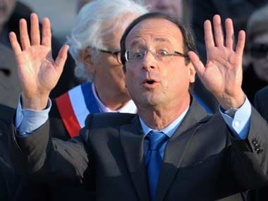A file photo of Hollande. AP