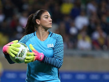 File photo of Hope Solo. AP