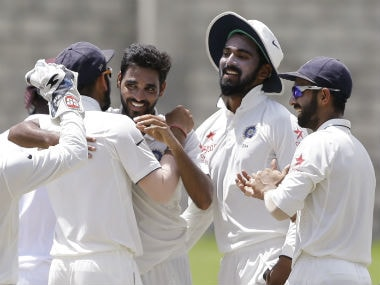 Bhuvaneshwar Kumar was brought in for the third Test and made an immediate impact. AP
