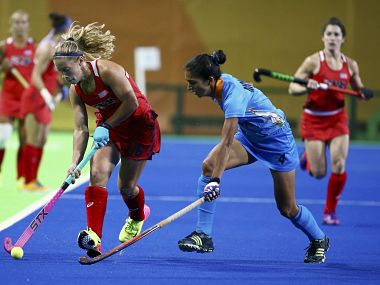 India women in action against USA. Reuters
