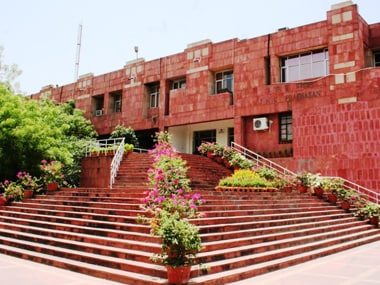 File image of the JNU campus. JNU website