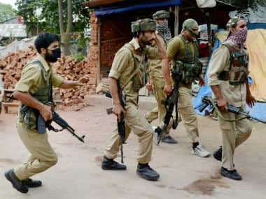 File image of Jammu and Kashmir police personnel. PTI
