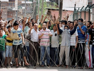 A file image of Kashmiris protesting against use of brute force by security forces in Srinagar. PTI