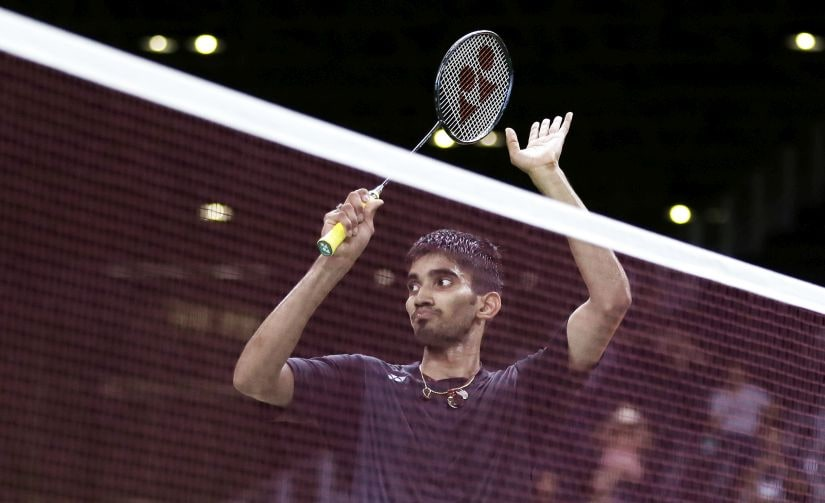 Srikanth Kidambi applauds the crowd after his loss to Lin Dan. AP