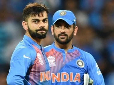 File photo of captain MS Dhoni and Virat Kohli. AFP