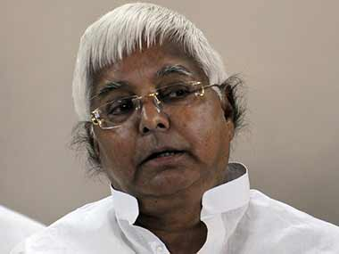 It is not surprising that Lalu Prasad asked Bihar flood victims to feel lucky. AFP