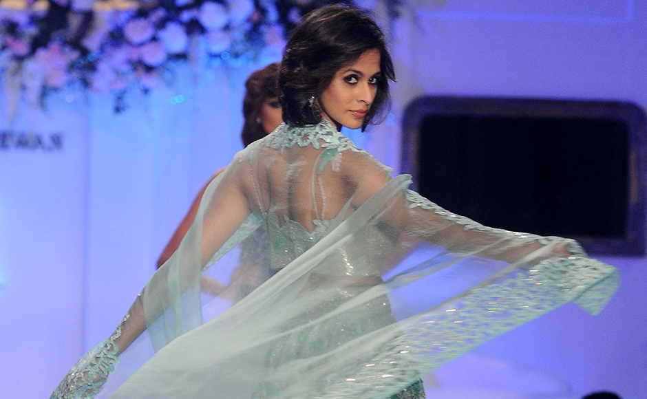 Designer Rebecca Dewan has just launched her label and she held a fashion show to display her collection. Sachin Gokhale/Firstpost