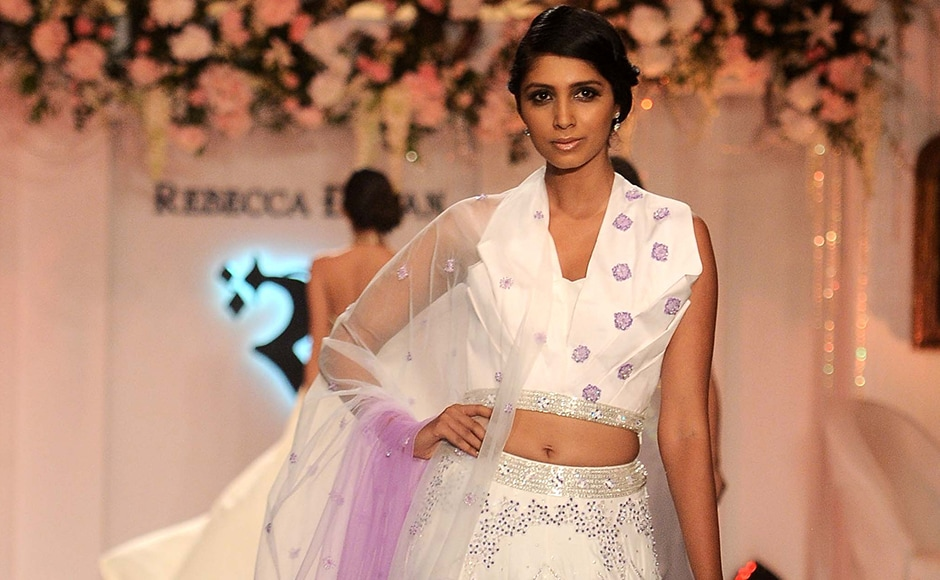 Models walked the ramp exhibiting her collection. Sachin Gokhale/Firstpost