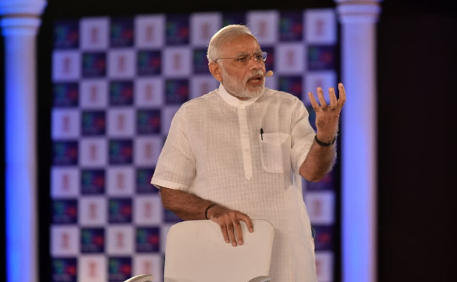 Modi also talked about his 'Rurban mission' under which the government has identified 300 places which will become development centres. these will have the spirit of a village but facilities of a city, said Modi. Photo: PIB