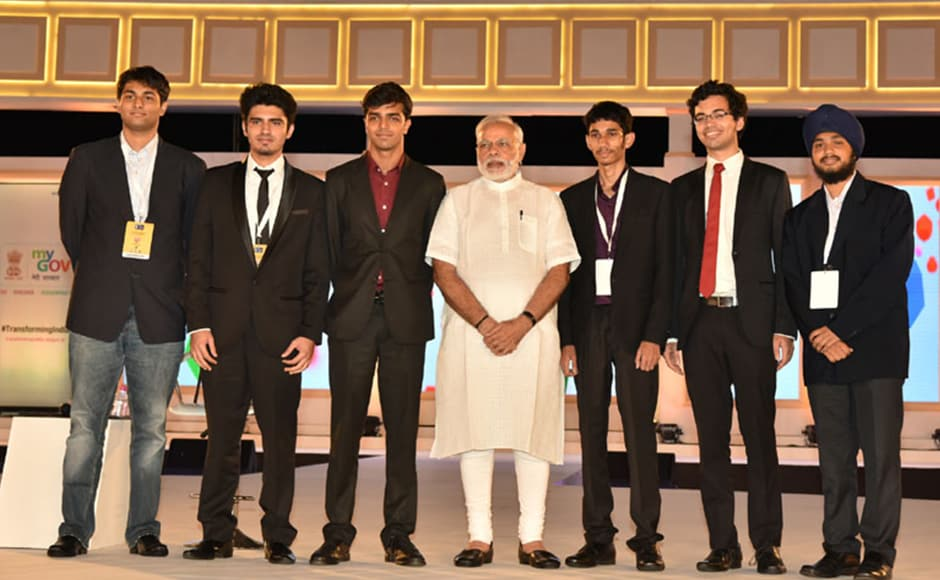 Modi also met the developers of the PMOApp before launching it. The app can be used for discussions and direct submission of grievances to the PM's office. Photo: PIB