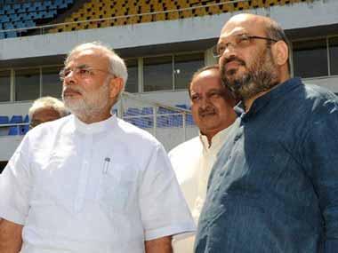 Prime Minister Narendra Modi with BJP president Amit Shah. AFP