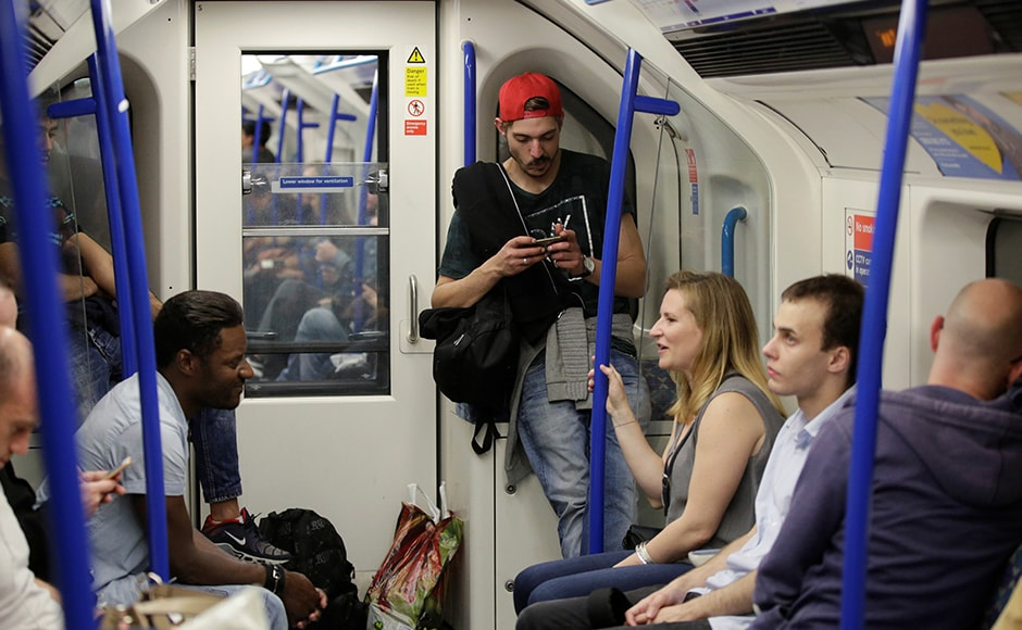 London's first night-time Tube train finally took offfrom the Brixton station, 19 August. It will run all night on parts of the Central and Victoria lines on Friday and Saturday nights. Reuters