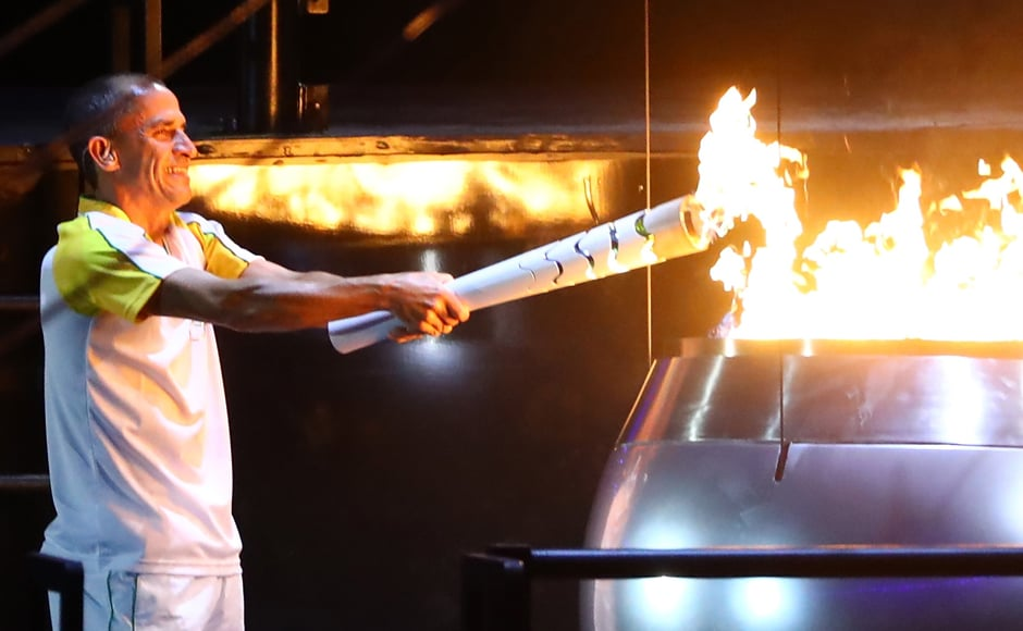 The Olympic couldron is lit and the 2016 Games are officially underway! Getty Images