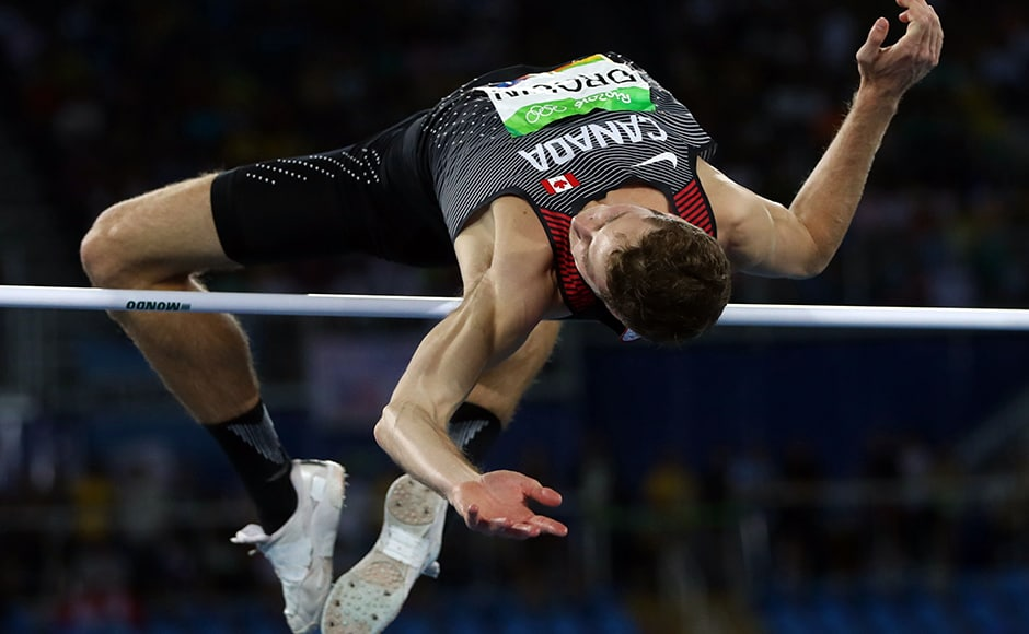 Derek Drouin of Canada won the gold medal in Men's High Jump Final at Rio Olympics. Reuters