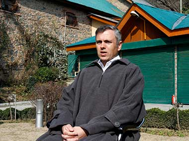 File image of National Conference leader Omar Abdullah. AP