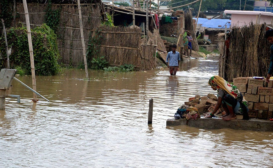 It was flowing above danger mark at Gandhi ghat and Hathidah in Patna district, Kahalgaon in Bhagalpur district, while Ghaghra river remained in spate at Gangpur-Siswan area in Siwan district and Koshi's water level was above the red mark at Baltara in Khagaria district. Photo: PTI